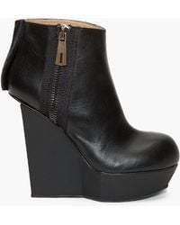 Acne Studios - Hybria Leather Wedge Boots - Lyst