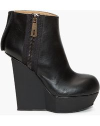 Acne Studios | Hybria Leather Wedge Boots | Lyst