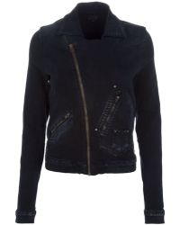 Goldsign - Stretch Denim Jacket - Lyst