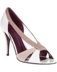 Leopoldo Giordano - Leather Cut-out Shoes - Lyst