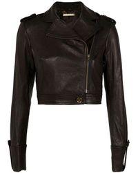 Diane von Furstenberg Alphie Leather Jacket - Lyst