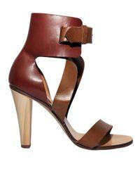 Chloé 100mm Calfskin Ankle Sandals - Lyst