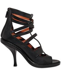 Givenchy 110mm Calfskin Cage Sandals - Lyst