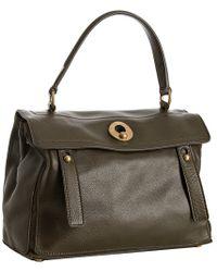Saint Laurent Olive Calfskin Leather Muse Two Satchel - Lyst