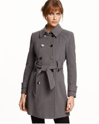 Elie Tahari Piper Wool-blend Belted Trench Coat - Lyst