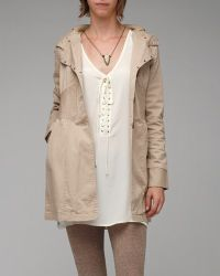 Tulle Hooded Trench - Lyst