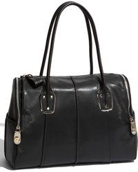 B. Makowsky Whitney - Large Embossed Leather Satchel - Lyst