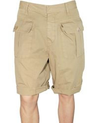 DSquared² Light Gabardine Cargo Shorts - Lyst