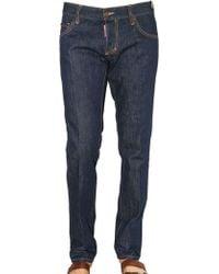 DSquared² 19cm Raw Denim Slim Fit Jeans - Lyst
