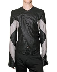 Gareth Pugh Bicolored Nappa Leather Jacket - Lyst