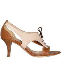 O Jour - 70mm Calf Bicolor Lace-up Sandals - Lyst