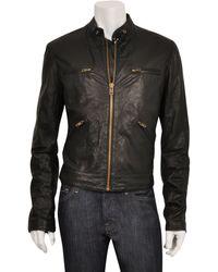 Edun Leather Motorcycle Jacket - Lyst