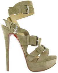 Christian Louboutin 150 Toutenkaboucle Suede Sandals - Lyst
