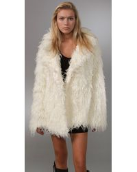 Free People Almost Famous Fur Jacket - Lyst