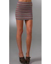 Pleasure Doing Business 9 Band Miniskirt - Lyst