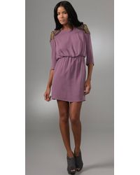 Tibi Nile Beaded Short Dress - Lyst