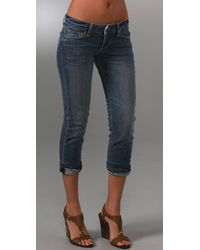 Paige Venice Cropped Jeans - Lyst