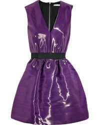 Victoria Beckham Satin-crepe Bell Dress - Lyst