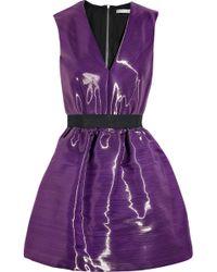 Victoria Beckham Satin-crepe Bell Dress purple - Lyst