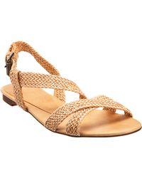 Stella McCartney Flat Braided Sandal - Lyst