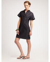 Behnaz Sarafpour - Dark Denim T-shirt Dress - Lyst