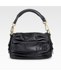 Dior Medium Flap Leather Shoulder Bag - Lyst