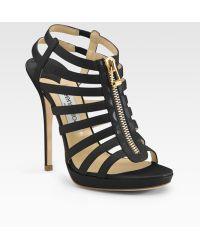 Jimmy Choo Glenys Cage Platform Sandals - Lyst