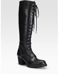 Junya Watanabe - Tall Lace-up Boots - Lyst