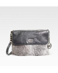 Michael Kors Fox Fur Shoulder Bag 45