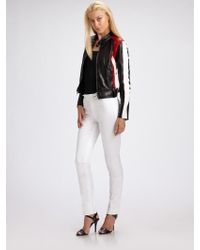 Ralph Lauren Black Label Ryland Leather Motorcycle Jacket - Lyst