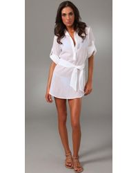 Thayer - Shirtdress Cover Up - Lyst