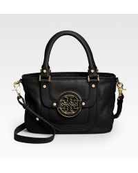 Tory Burch Amanda Leather Hobo - Lyst