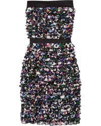 Diane von Furstenberg Silk Star Print Wrap Dress - Lyst