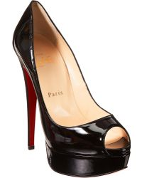 Christian Louboutin Lady Peep Platform Pumps black - Lyst