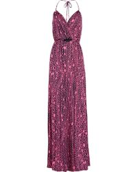 Milly Chain-print Stretch-jersey Halterneck Dress - Lyst