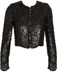 Stella McCartney Cropped Sequin Jacket - Lyst
