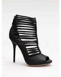 Gucci Inga Strappy Leather Ankle Boots black - Lyst