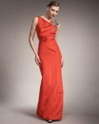 Carolina Herrera Flower-pin Gown - Lyst
