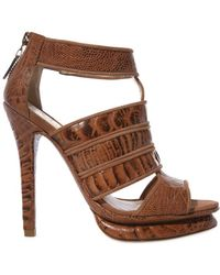 Alexandre Birman 120mm Ostrich Ankle Sandals - Lyst