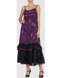 Odd Molly Purple Long Dress - Lyst