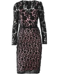 Dolce & Gabbana Key-Print Chiffon Dress - Lyst
