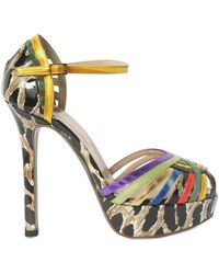 Ernesto Esposito 130mm Patchwork Ankle Sandals - Lyst