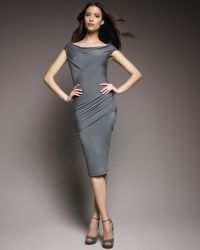 Donna Karan New York Draped Jersey Dress - Lyst