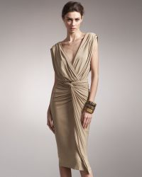 Donna Karan - Cross-front Draped Bodysuit - Lyst