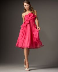 Redux Charles Chang-lima - Strapless Bow-front Silk Dress - Lyst