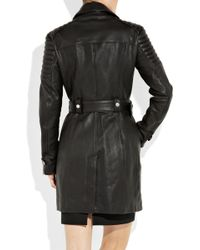 Burberry Prorsum Quilted Leather Motocross Coat - Lyst