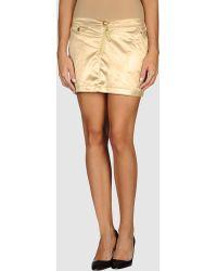 Calvin Klein Jeans Mini Skirt - Lyst