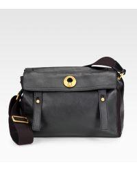 yves saint laurent pebbled leather shoulder bag