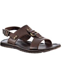 Frye - Dark Brown Leather Ludlow H Band Sandals - Lyst