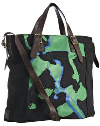 Marc By Marc Jacobs Brilliant Green Painted Punk Boy Canvas Messenger Bag - Lyst